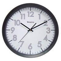 Office Wall Clock, Black/Gray, 14-In.