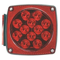 LED Stop, Tail & Turn Light, Right-Side, Square, 4.5-In.