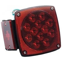 LED Stop, Tail & Turn Light, Left-Side, Square, 4.5-In.
