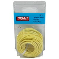 Automotive Wire, Insulation, Yellow, 16 AWG, 30-Ft.