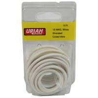 Automotive Wire, Insulation, White, 12 AWG, 12-Ft.