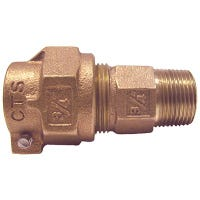 Water Service Coupling, Lead-Free, CTS PAK x MIP, 1-In.