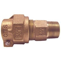 Water Service Coupling, Lead-Free, CTS PAK x MIP, 3/4-In. x 1-In.
