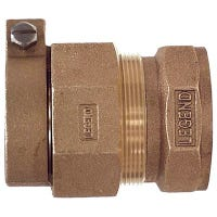 Water Service Coupling, Lead-Free, CTS PAK x FIP, 1-In.