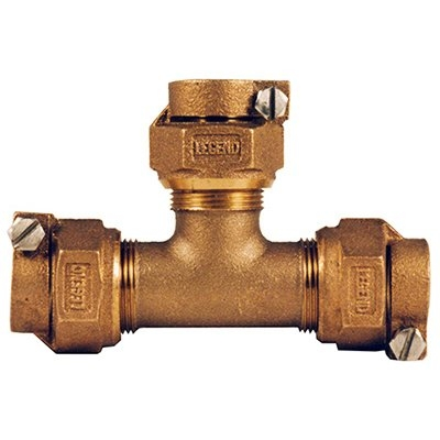 Image of Water Service Tee CTS PAK x PAK, 1-In.