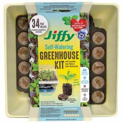 Greenhouse, Self-Watering, 34-Ct.