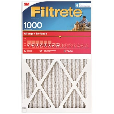 Image of Allergen Defense Red Micro Pleated Air Furnace Filter, 10x20x1-In.