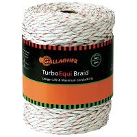 Electric Fence Turbo Equibraid, Ultra White, 1/8-In. x 656-Ft.