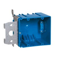 Adjust-A-Box Electrical Box With Range Knock Out, 2-Gang, Non-Metallic