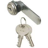 Door & Drawer Lock, Chrome, 1/4-In.