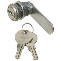 Door & Drawer Lock, Keyed Alike, Chrome, 1/2-In.