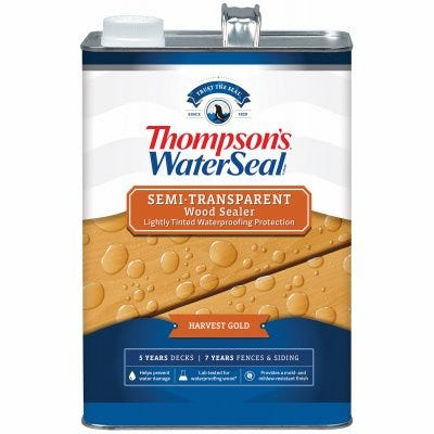 Waterproofing Stain, Semi-Transparent, Harvest Gold, 1-Gallon