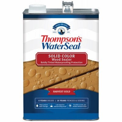 Waterproofing Stain, Solid, Harvest Gold, 1-Gallon