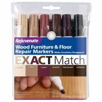Wood Furniture & Floor Repair Markers, 6 Assorted Tones
