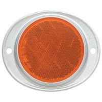 Trailer Reflector, Amber, Aluminum Housing, 3-In.