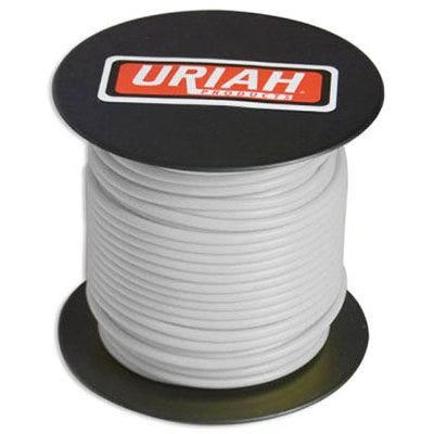 Automotive Wire, Insulation, White, 18 AWG, 100-Ft. Spool