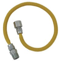 Stainless Steel Gas Appliance Gas Connector, 36-In., 1/4-In. I.D. x 3/8-In. O.D.