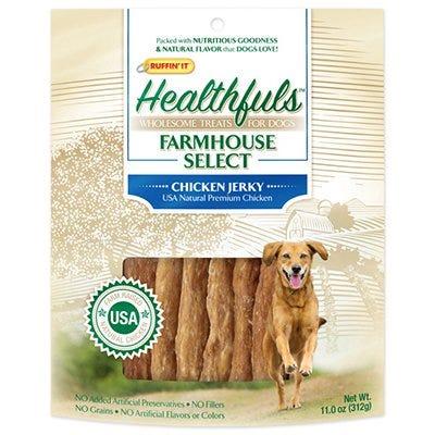 Healthfuls Farmhouse Selects Dog Treats, Chicken Jerky, 11-oz.
