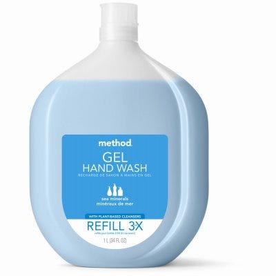 Naturally-Derived Gel Hand Soap Refill, Sea Minerals, 34-oz.