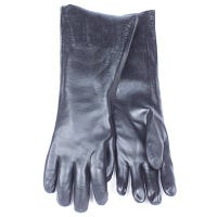 Chemical Glove, Black PVC, Large, 18-In.