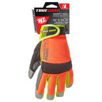 Safety Max Work Gloves, Hi-Viz, Touchscreen, Men's Medium