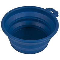 Pet Travel Bowl, Navy Blue Silicone, 1.5-Cup