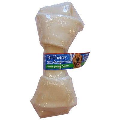 Dog Treats, American Beefhide Rawhide Bone, 7-8-In.