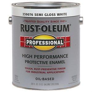Professional Enamel Coating, Semi-Gloss White, 1-Gallon