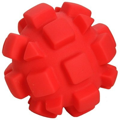 Image of Dog Toy, Red Bumpy Ball, 4-In.