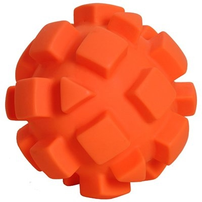 Image of Dog Toy, Orange Bumpy Ball, 5.5-In.