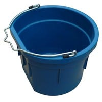Utility Bucket, Flat Sided, Teal Resin, 8-Qts.