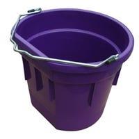 Utility Bucket, Flat Sided, Purple Resin, 20-Qts.