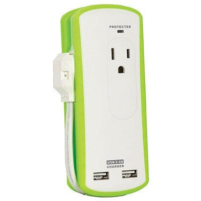 USB Travel Power Pack with Surge Protection