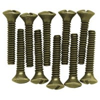 Wall Plate Screws, Steel, Burnished Antique Brass, 14-Pk.