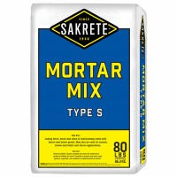 Mortar Mix, Type S, 80-Lbs.