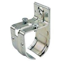 Rail Splice Bracket, Single, Round, Zinc