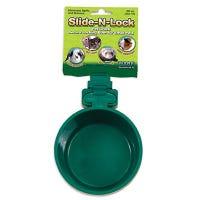 Pet Food Feeding Crock, Slide-N-Lock