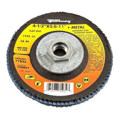 Jumbo Blue Zirconia Flap Disc, Type 29, 80-Grit, 4.5-In.