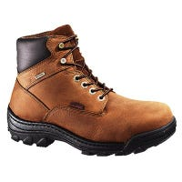 Durbin Waterproof Work Boots, Medium Width, Brown Nubuck Leather, Men's Size 8