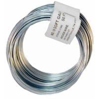 12.5-Gauge Galvanized Smooth Wire, 330-Ft.