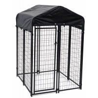 Uptown Pet Kennel, Welded Wire, 4 x 4 x 6-Ft.