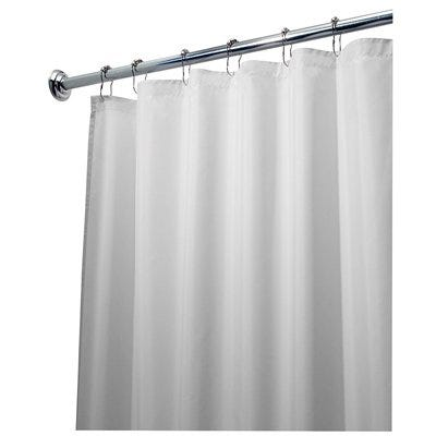 Shower Curtain Liner, White Polyester, 72 x 84-In.