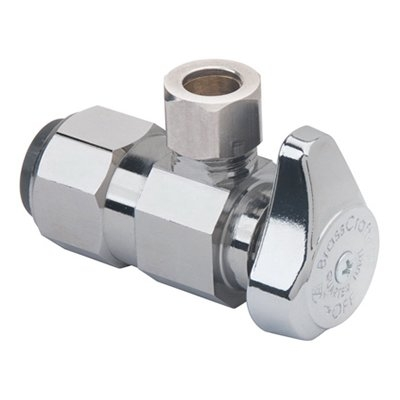 Image of Angle Stop Valve, .5 Push Connect x 3/8-In. Compression