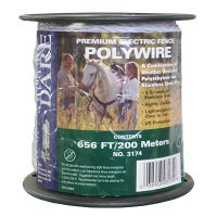 Electric Fence Wire, White, 656-Ft.