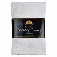 White Bar Mop Towel Set, 16-In. x 19-In., 3-Pk