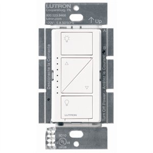 Image of Caseta Bluetooth/Wi-Fi Single-Pole/3-Way Dimmer, 150-Watt, White