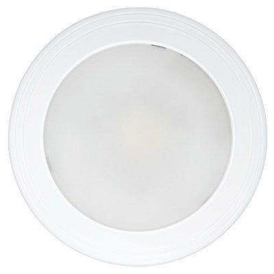 LED Mini Ceiling Light Fixture, Flush Mount, Round, White, 14-Watt, 7-1/2-In.
