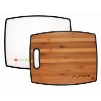 Cutting Board, Reversible Bamboo/Poly, 16-In.