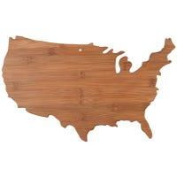 Bamboo Cutting Board, USA-Shape