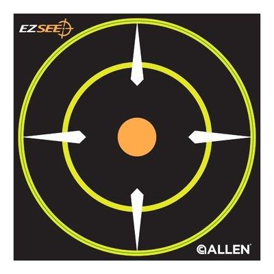 Image of EZ See Bullseye Target, Adhesive, Black, 6-In., 12-Pk.